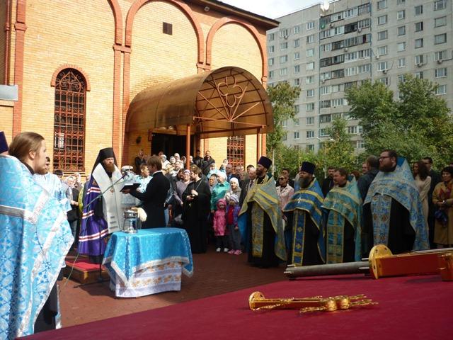 Первый престольный праздник нового храма в честь иконы Божьей Матери»Всецарица»