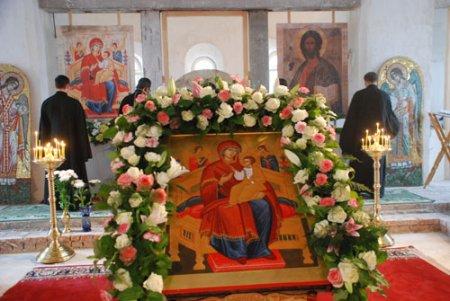 Престольный праздник в храме в честь иконы Божьей Матери «Всецарица» в Щербинке