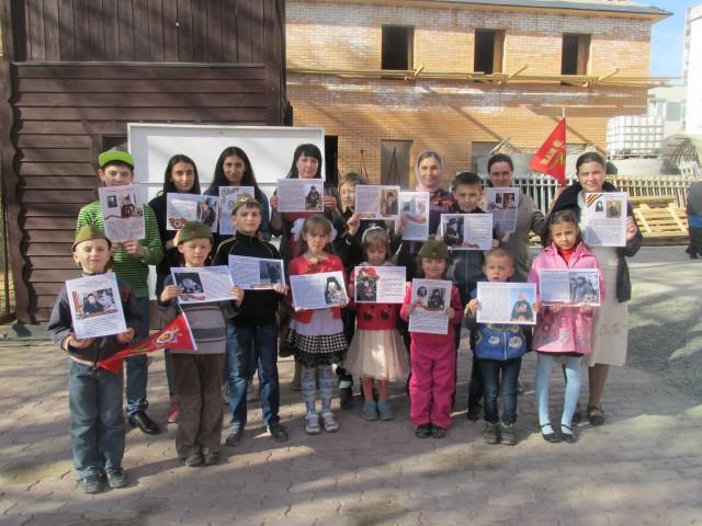 Учащиеся Воскресной школы подготовили памятный стенд к 70-летию Великой Победы