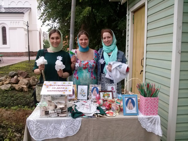 На приходе нашего храма состоялась благотворительная акция «Белый цветок»