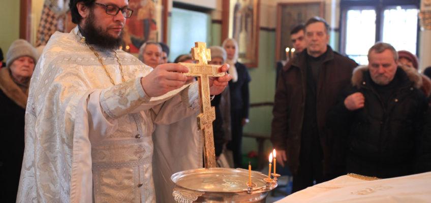 Божественная литургия в Крещенский Сочельник в Елисаветинском храме