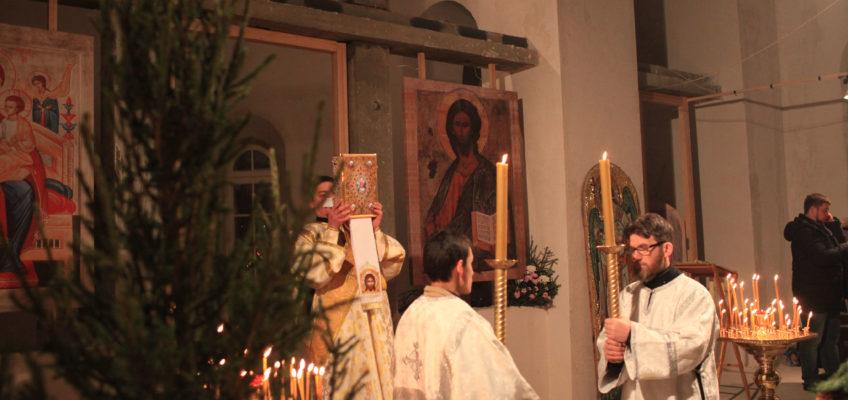Первая Рождественская Литургия во Всецарицынском храме
