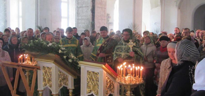 Праздник Входа Господня в Иерусалим в храме в честь иконы Божией Матери «Всецарица»