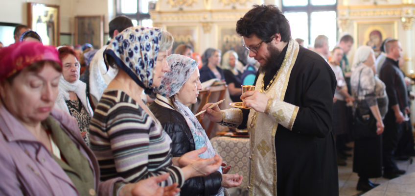 Таинство Соборования в Елисаветинском храме