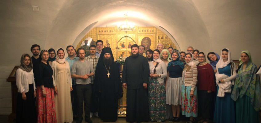 Ночная литургия в Новоспасском монастыре