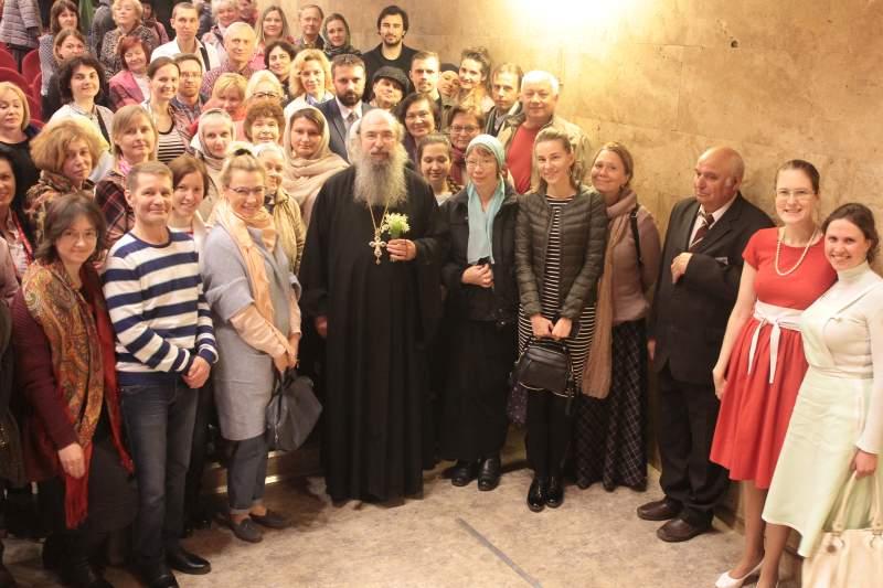 Прихожане храма посетили встречу с архимандритом Мелхиседеком «Секреты настоящей любви»