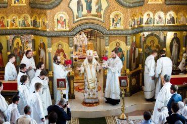 Великим чином  освящения  был  освящен  храм преподобного Сергия, игумена Радонежского в Тарасове