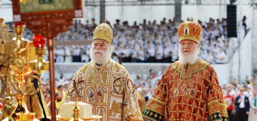 Благочинный, духовенство и прихожане храмов Никольского церковного округа гор. Москвы приняли участие в торжествах в честь 1030-летия Крещения Руси.
