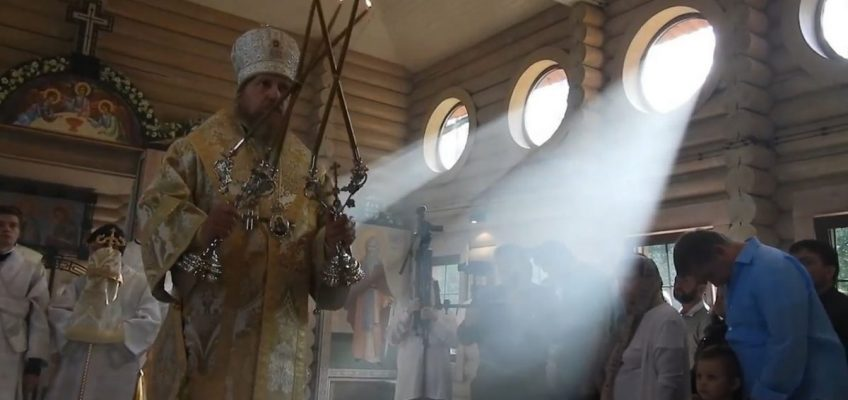 Освящение храма св. Олега Брянского в п.Минзаг (Видео)