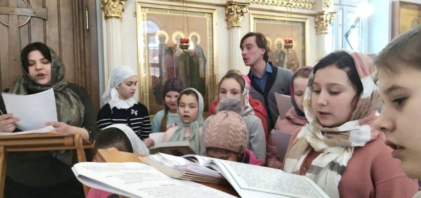 Детская литургия в Воскресной школе